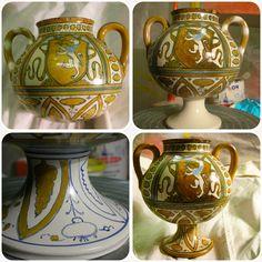 restoration of Renaissance majolica jar with missing foot #ceramic #restoration #antique #ceramique
