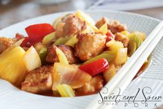 Craving Chinese food? Make this healthy recipe for dinner tonight This paleo sweet and sour pork is grain, gluten and preservative free. But the taste is dead on delicious to satisfy your urge!