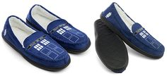 Tardis Moccasin Slippers Think Geek Exclusive