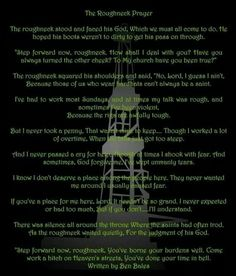 Roughneck prayer