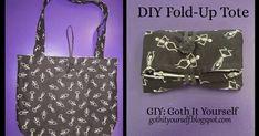 This tutorial will show you how to sew a lined tote which folds/rolls up into a neat little package. Though it may look daunting because o... How To Make Purses, Ipad, Diy Purse, Diy Crafts For Gifts, Fabric Bags, Folded Up, Sewing Projects, Sewing Ideas, Sewing Patterns