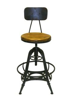 Bruce Dark Gray Adjustable Counter Stool - Set of 2 by PANGEA/home on @HauteLook