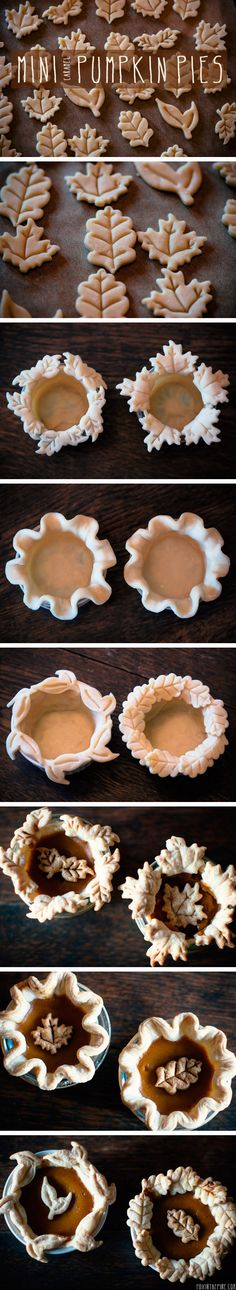 I really want to do these. How cute! Plus, I don't have to get any better at rolling pie dough, because it doesn't need to be a big, beautiful sheet of dough. Just little ones. I think that's easy enough for me!