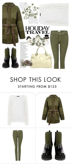 """""""Travel in Style, Holiday Edition"""" by ifchic ❤ liked on Polyvore featuring Pink Tartan, Current/Elliott, JAY. M, Balenciaga, contestentry, travelinstyle and ifchic"""