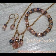 Pedido personalizado!!!! Hecho en cadena de acero dorado con muranos y separadores en goldfield...  Tu tambien puedes pedir el tuyo info +57 3127080891 - 3135568358 #DirettaCharmsAccesorios #DirettaAccesorios #lovely #design #jewelry #bisuteriafina #hechoencolombia #handmadecolombia #artesania #personalization #beauty #moda #chic #multicolor #lovely #goldfield #gold #accesorios #accesoriospersonalizados