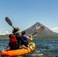 Explore the adventure capital of Costa Rica, Arenal Volcano. Kayaking Lake Arenal via @skyadventurescr! #vacations #CostaRicaExperts