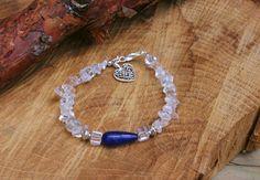Mooie Bergkristal Splitarmband Met Een Prachtige door EASTERNSOULS