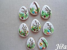 Easter Cookies, Sugar Cookies, Royal Icing Piping, Cookie Designs, Cookie Cutters, Gingerbread, Projects To Try, Food Decorating, Ornament