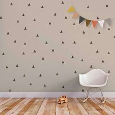 wall Decals Baby - Triangle Wall Decal Baby Wall Decal Removable Stickers Kids Wall Stickers Baby Nursery Decor Gray Triangle Little Peaks Children Wall Decal. Baby Wall Decals, Wall Stickers, Star Stickers, Ideas Dormitorios, Triangle Wall, Triangle Pattern, Room Decor, Wall Decor, Wall Art
