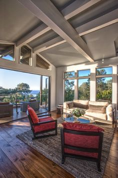 Hill Top Del Mar - transitional - Living Room - San Diego - Anne Sneed Architectural Interiors