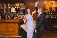 Lavender one-shoulder bridesmaid dress | Fall Wedding Reception at Maggiano's Little Italy Oak Brook, IL | Ashley Hamm Photography