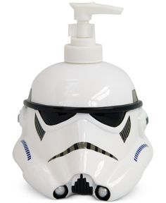 """This 3D shaped lotion pump features the iconic Stormtrooper, adding Star Wars galactic fun to any bathroom. From Jay Franco. 