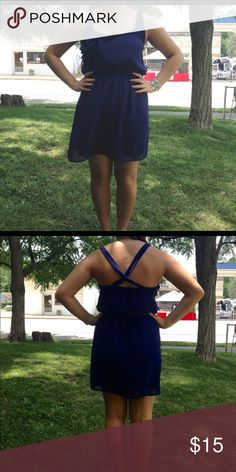 Navy Blue Sundress Flowy, navy blue sundress. Beautiful and simple. Only worn 2 times. Dresses