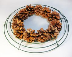 After you've reviewed this tutorial, you might want to see some of my new 2015 wreaths here.   I have been making pine cone wreaths for a ...