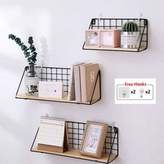 Home Wooden Iron Wall Shelf Rack Wall Mounted Storage Rack Organization for Kitc. Home Wooden Iron Wall Shelf Rack Wall Mounted Storage Rack Organization for Kitchen Bedroom Home Decor Kids Room Wall Decor Holder Study Room Decor, Cute Room Decor, Room Ideas Bedroom, Bedroom Decor, Office Wall Decor, Wooden Wall Shelves, Shelf Wall, Aesthetic Room Decor, Room Organization