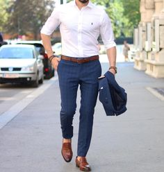 Casual outfit for men cc: menwithclass ig Trendy Mens Fashion, Indian Men Fashion, Stylish Mens Outfits, Mens Fashion Suits, Formal Dresses For Men, Formal Men Outfit, Formal Shirts For Men, Semi Formal Outfits, Men Formal
