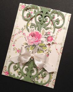 ShabbySweet and Fancy All Occasion Card by PinkPetalPapercrafts, $7.25