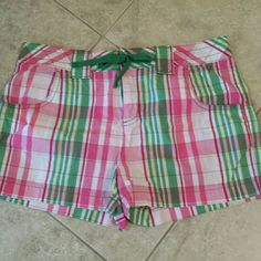 Plaid shorts Plaid shorts with green ties LFL 1982 Shorts