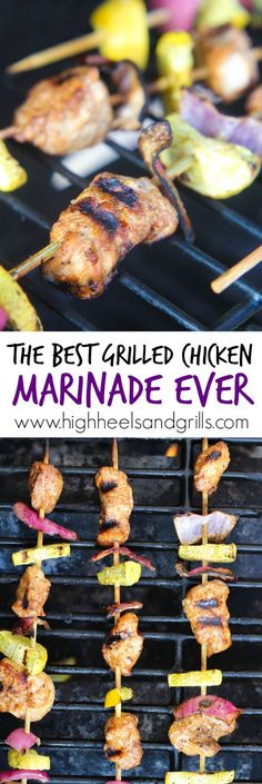 This is the best grilled chicken marinade I've ever used. The chicken comes out juicy and flavorful every time! http://www.highheelsandgrills.com/2015/03/the-best-grilled-chicken-marinade-ever.html