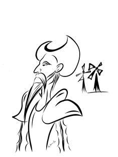 Quijote by Arelizu on DeviantArt Windmill Drawing, Line Drawing, Painting & Drawing, Dom Quixote, Pen Art, Windmills, Kirigami, Gaudi, Art School