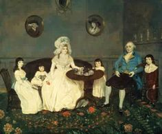 Painting of 18th Century American Family