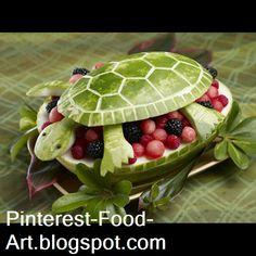 turtle Food Art  #Food #Art  pinterest-food-art.blogspot.com