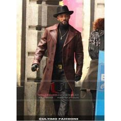 Suicide Squad Will Smith maroon long coat High Quality Leather Trench Coat