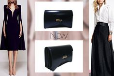 The handmade asymmetrical Barbara clutch in blue shades is elegant, chic and practical @w