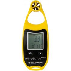 Windguide Plus Anemometer  Modern technology makes our digital pocket-sized WindGuide™ Plus anemometer accurate, weather resistant and rugged enough for all of your outdoor activities, providing the current time, temperature, maximum and average wind speed up to 67 mph, wind chill indication and more.