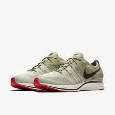 """Nike flyknit trainer """"olive/red"""" first look release date info price drop sneakers Nike Sneakers, Sneakers Fashion, Dope Fashion, Nike Flyknit Trainer, Nike Shoes Outfits, Shoes Jordans, Baskets Nike, Dress With Sneakers, Elite Socks"""