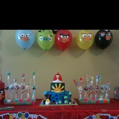 Angry Birds party Diego had last year