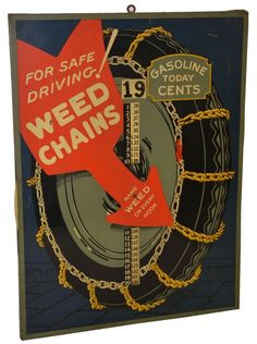 "Weed Chains ""Gas Today"" pricer SST sign, valued at $4,000"
