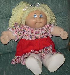"Vintage Cabbage Patch Kid 16"" Doll 1984/5 Blue Eyes Gia"