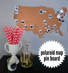 the polaroid map pin board: an easy DIY for the modern hipster to track her travels