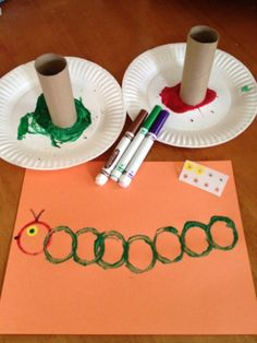 Modification: Kids will pick two foods the caterpillar ate and said foods will be included on the paper.