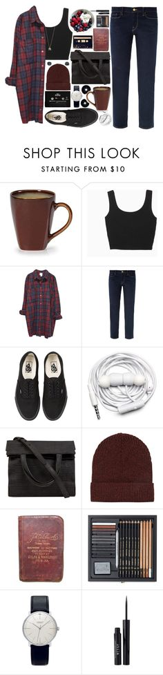 wonderwall. by cauchemar-exquis on Polyvore featuring Monki, Frame Denim, Alexander Wang, Junghans, Topshop, Vans, Stila, Urbanears, CASSETTE and CHESTERFIELD
