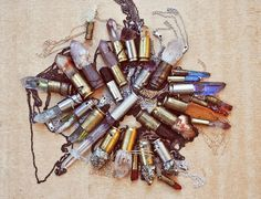 ♦ Druzy Bullets (I am not so into military stuff, but this could be a nice way to work some of those old bullet shells into a costume)