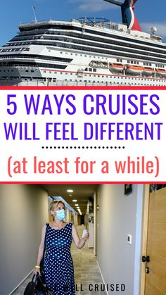 Cruises will feel different for a while - here are 5 major things we have to get used as cruises have begun to restart #cruise #cruisetips #cruises #cruisestips