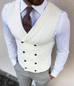 Men's Vest Wedding, Wedding Suits, Mens Clothing Styles, Men's Clothing, Clothing Ideas, Stylish Mens Outfits, Stylish Mens Fashion, Latest Mens Fashion, Male Outfits
