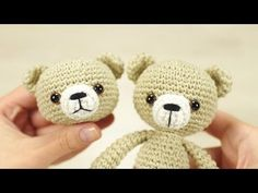 Embroidering teddy nose (left-handed) | Kristi Tullus - YouTube
