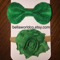 Felt bow and flower headband