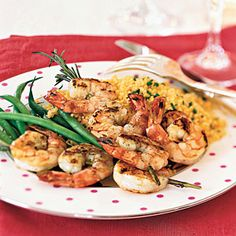 10 Romantic Dinners for Two   Rosemary Shrimp Scampi Skewers   CookingLight.com