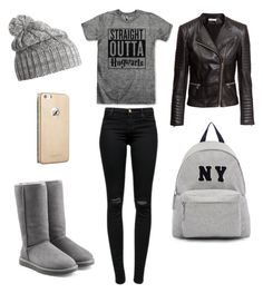 """Untitled #237"" by lukeisalibero ❤ liked on Polyvore featuring Helly Hansen, J Brand, UGG Australia, Joshua's, H&M, women's clothing, women's fashion, women, female and woman"
