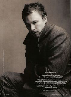 Heath Ledger by annie leibovitz