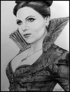 The Evil Queen by KatBjorky on deviantART ~ actress Lana Parrilla on Once Upon a Time tv series. I really like the storytelling for this series! Once Upon A Time, Amazing Drawings, Cool Drawings, Realistic Drawings, Pencil Drawings, Amazing Art, Cool Sketches, Disney Sketches, Pictures To Draw