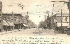 "Elm (""Ellum"") Street, Dallas.  1905.  ""City of 80,000."""
