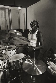 Elvin Jones by Richard Laird.  What a force of nature! Monster drummer behind that kit.