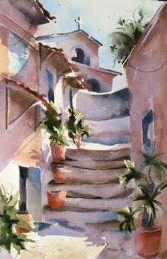 Watercolors by Jinnie May, American Artist