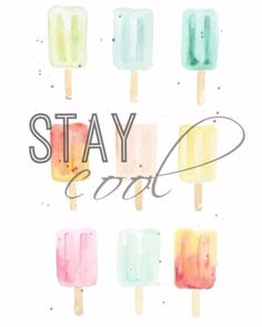 Nothing says summer like popsicles! Celebrate these sweet treats with this summer printable wall art set of watercolor popsicles. Add to a gallery wall frame or use for easy summer party decor. Michael Johnson, Popsicle Art, Summer Party Decorations, Word Art Design, Gallery Wall Frames, Crayon Art, Watercolor Print, Watercolour Drawings, Watercolor Artwork
