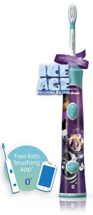 Ice Age: Collision Course in theaters now partners w/ Sonicare w limited edition kids power toothbrush w bluetooth tech to help encourage…
